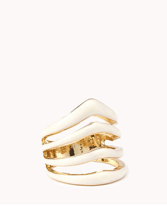 Forever 21 Lacquered Cutout Ring