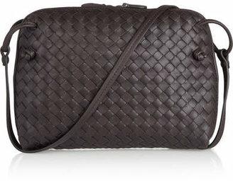 Bottega Veneta - Messenger Small Intrecciato Leather Shoulder Bag - Dark brown $1,580 thestylecure.com