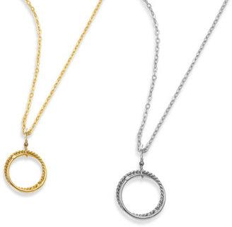 Charlene K Twisted Circles Pendant