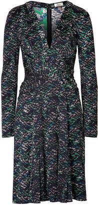 Issa Silk Jersey Longsleeve Dress Cactus