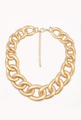 Forever 21 Luxe Curb Chain Necklace