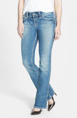 Silver Jeans Co. 'Suki' Flap Pocket Bootcut Jeans (Indigo)