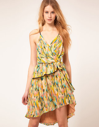 Hype Pastel Printed Polly Dress With Ruffle Detail