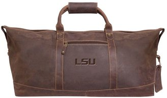 Lsu tigers carry-on leather duffel bag