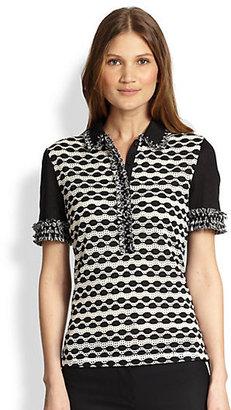 Tory Burch Paulina Fringed Polo Shirt