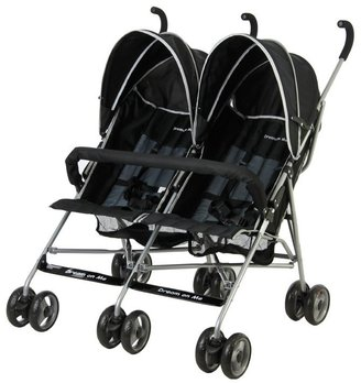 Dream On Me Twin Stroller- Black