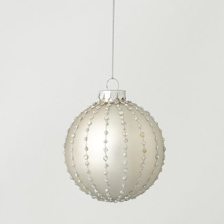 Bloomingdale's Silver Beaded Glass Ball Ornament