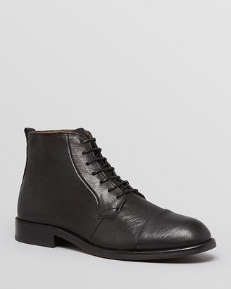 Hudson H By Fenway Leather Cap Toe Boots