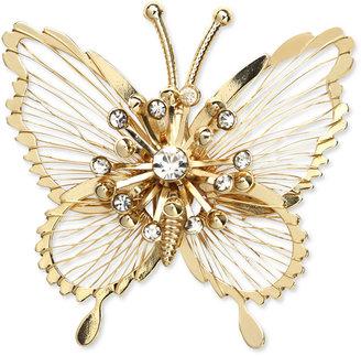 Jones New York Brooch, Gold-Tone Crystal Butterfly Pin Box Web ID: 711172