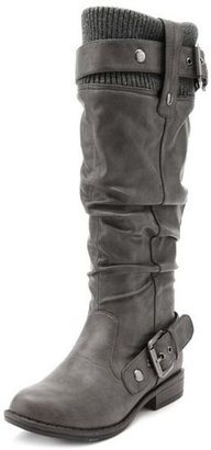 Charlotte Russe Sweater Top Double Buckle Boot