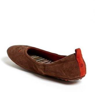 Acorn 'Via' Perforated Ballet Flat