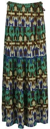 Forever 21 Abstract Knit Skirt w/ Belt