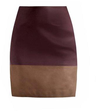 Richard Nicoll Bi-colour leather skirt