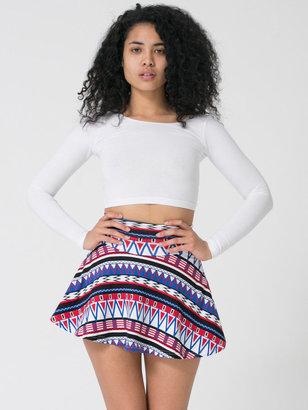 American Apparel Russian Circus Printed Cotton Spandex Jersey High-Waist Skirt