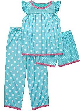 Carter's 3-pc. Blue Polka Dot Pajamas - Girls 4-7