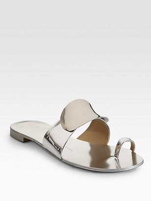 Giuseppe Zanotti Metallic Toe-Ring Sandals