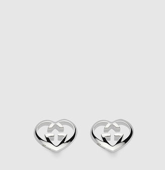 Gucci heart-shaped interlocking G earrings