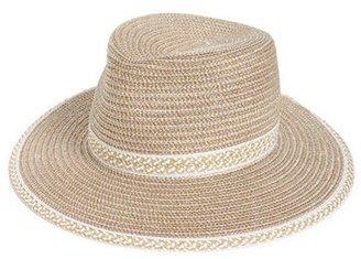 Women's Eric Javits 'Georgia' Woven Hat - White $198 thestylecure.com