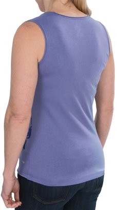 White Sierra Fern Canyon Tank Top - Stretch Fabric (For Women)