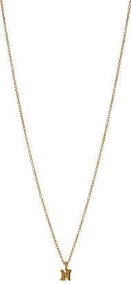 Sonya Renee Jewelry Gold 'N' Mini Block Letter Pendant Necklace