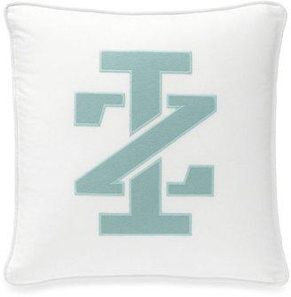 Izod Basketweave Square Logo Throw Pillow