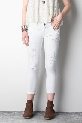 American Eagle Outfitters White Jegging Jeans Crop, Womens 12 By