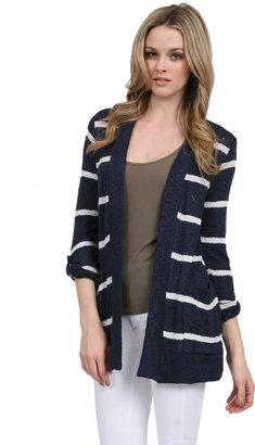 Splendid Long Sleeve Sweater Coat in Navy