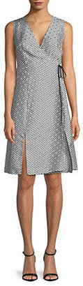 Diane von Furstenberg Printed Wrapped Silk Dress