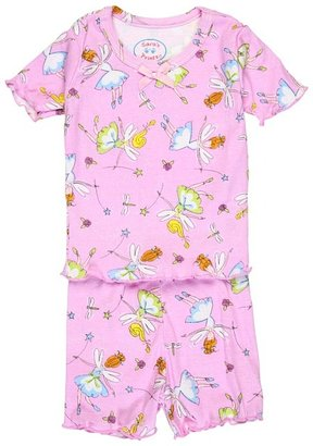 Sara's Prints Fitted Short PJ's (Toddler/Little Kids) (Flower Fairies) - Apparel