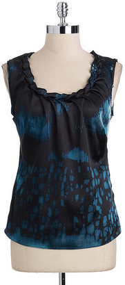 T Tahari Rita Printed Blouse