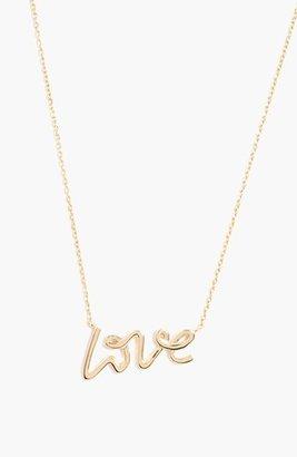 BaubleBar 'Love' Pendant Necklace (Online Only)
