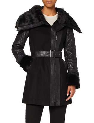 Morgan Women's Manteau col Imitation Fourrure GEFROU Faux Fur Coat