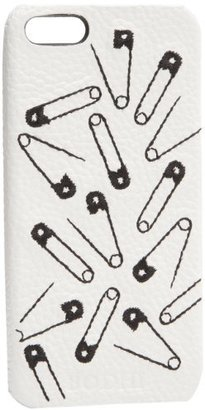 Bodhi Safety Pin Pattern Leather Bumper For iPhone 5 B2716979BWSF Wallet