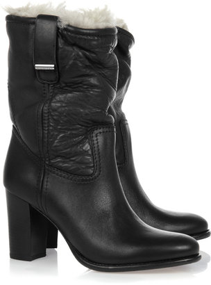 Burberry Shoes & Accessories Shearling-lined leather ankle boots