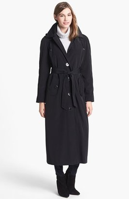 Petite Women's London Fog Long Trench Coat With Detachable Hood & Liner $258 thestylecure.com