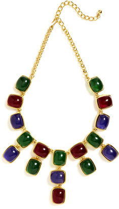 Kenneth Jay Lane Multi Stone Drop Necklace