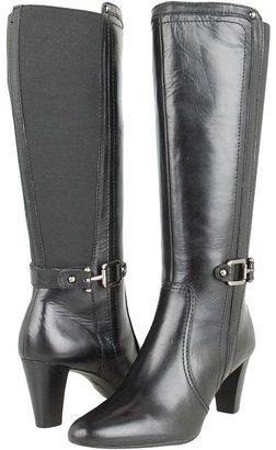 Anne Klein Gallagher Wide Calf (Black Leather) - Footwear
