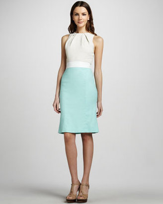 L'Agence Colorblock Combo Dress