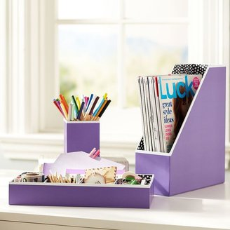 STUDY Preppy Paper Desk Accessories - Solid Purple