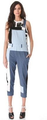 3.1 Phillip Lim Cut-Up Chambray Overalls