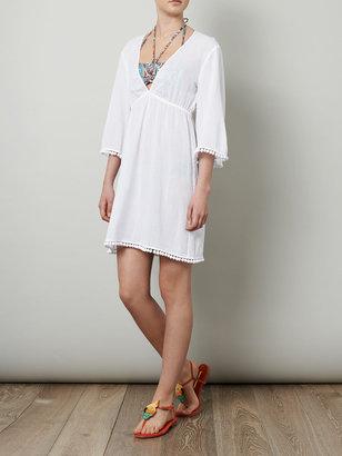 Heidi Klein Pom-pom trim beach dress