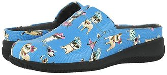 SoftWalk San Marcos (Blue Dogs) Women's Clog Shoes