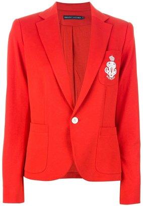 Ralph Lauren Blue Label logo crest blazer