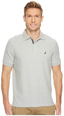 Nautica Solid Deck Polo (True Black) Men's Short Sleeve Pullover