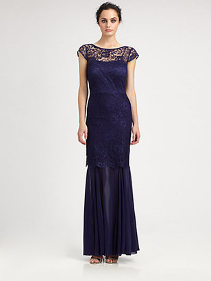 Kay Unger Lace & Chiffon Gown