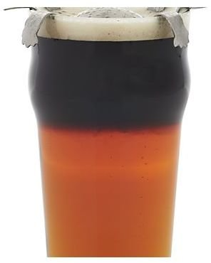 Crate & Barrel Black and Tan Turtle Bar Tool