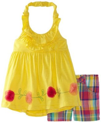 Nannette Girls 2-6x 2 Piece Knit Halter Top and Short