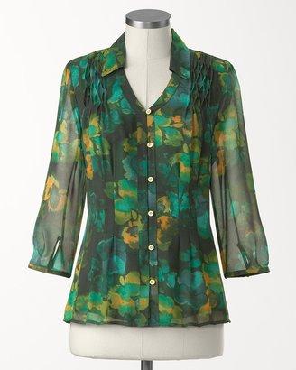 Coldwater Creek Deep waters blouse