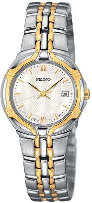 Seiko Womens Two-Tone Watch SXD646 $285 thestylecure.com