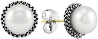 Lagos 'Luna' Pearl Small Stud Earrings